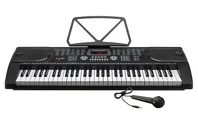 Electric Keyboard Digital Music Piano 61 Keys Instrument & Microphone - GRADE B