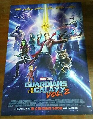 *RARE* Guardians of the Galaxy Vol. 2 Orig 27x40 Double Sided INTL Movie Poster