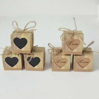 10pcs Kraft Paper Chocolate Candy Gift Boxes Wedding Party Baby Shower Favor