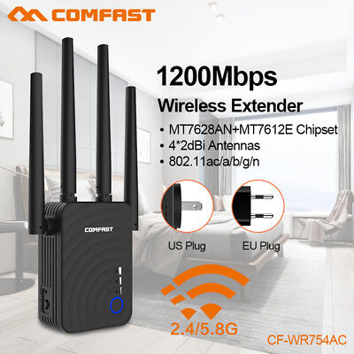 Dual Band 1200Mbps WiFi Repeater Wireless Range Extender Booster Network Best