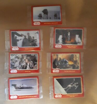 Star Wars. 7 packs of topps trading cards (unopened - unsealed)
