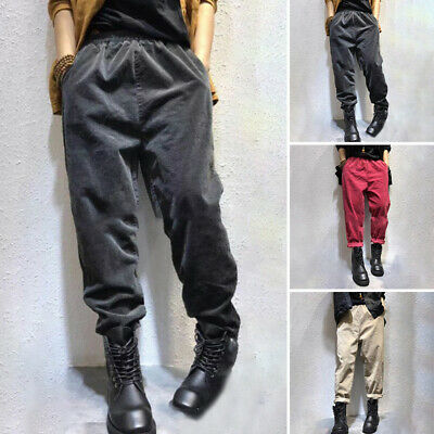 Women Trousers Girls Ladies Formal Autumn Casual Trousers Harem Bottoms