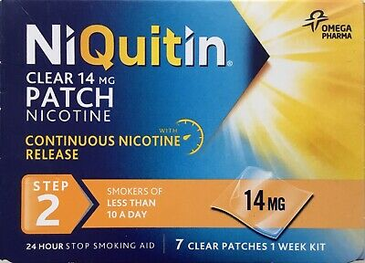 NiQuitin Clear 14 mg 7 Patches - Step 2 clear patchers