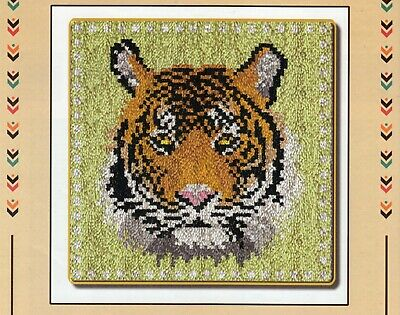 TIGER ON GREEN LATCH HOOK RUG KIT, NEW DESIGN and UK SELLER