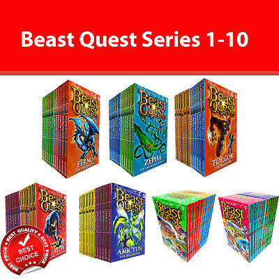 Beast Quest Series Collection 12 Books Set by Adam Blade Series 1-6 Pack NEW