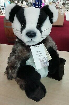 SPECIAL OFFER! Charlie Bears Isabelle Mohair BROCK Badger No 260/500 (RRP £199)