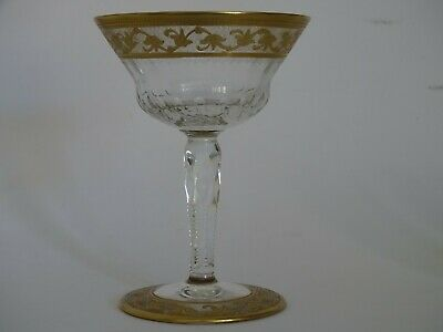 1 COUPE A CHAMPAGNE CRISTAL ST LOUIS MODELE CALLOT GOLD OR signée