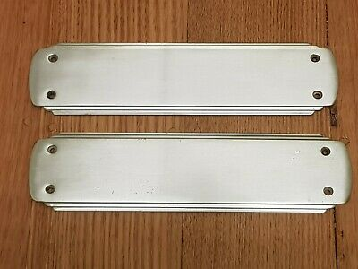 Pair of Original Vintage Art Deco Chrome/Chromed Brass Door Push Plates NOS
