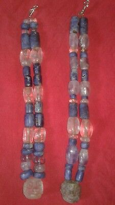 Chavin-Moche 2 PreColumbian  Amethyst,Sodalite and Quartz Beads necklace,Chimu