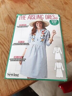 The AISLING Dress Sewing dressmaking pattern by Simply Sewing UK 6-20 New /uncut