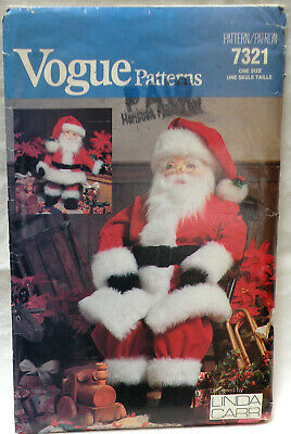 Vintage 1980s Vogue 7321 Giant Santa Claus Christmas Doll Pattern  Unused