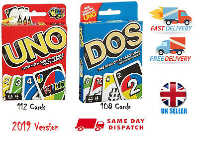 ✅2019 Version Wild 112 UNO / 108 DOS Card Game Cards Wild Card Game Free Post UK