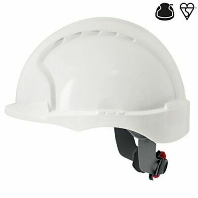 JSP AJG170-000-100 EVO3 Micro Peak Wheel Ratchet Helmet, White