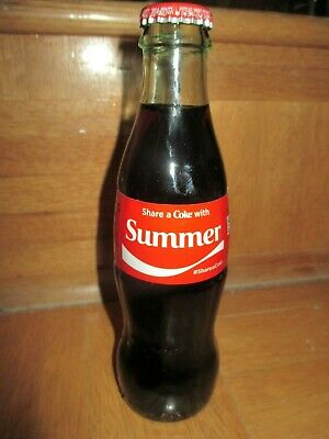 Share A Coke With Summer 8 Oz Coca Cola Collectible Bottle Custom Made