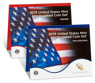 "2019 P/D US Mint Annual Uncirculated Coin Set (20 COINS) - w/o ""W"" Cent -"