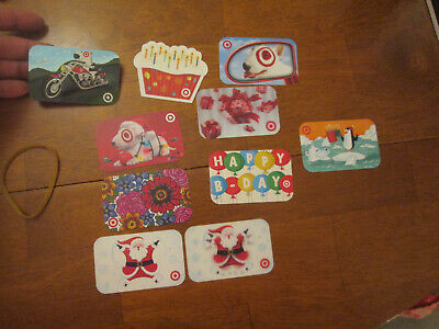 LOT 10 GIFT CARDS TARGET DIFFERENT COLLECTIBLE   No Cash Value