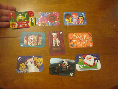 LOT 9 GIFT CARDS TARGET DIFFERENT COLLECTIBLE   No Cash Value