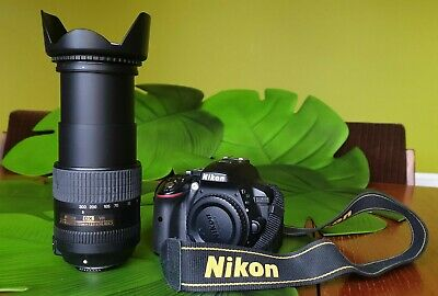 Nikon d5300 Black With Nikkor 18-300mm DX VR Zoom Lens + Accessories and Box