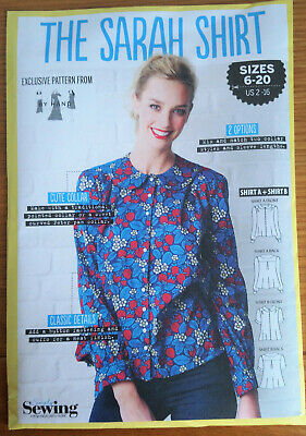 "SEWING PATTERN ""THE SARAH SHIRT"" sizes 6 - 20 Exclusive Pattern from  ""BY HAND"""