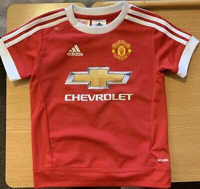 Official Adidas Child's Manchester United F.C. Football Shirt Age 12-18 months