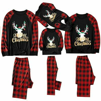 Christmas Family Pajamas Set Christmas Clothes Parent-child Suit Home Sleepwear