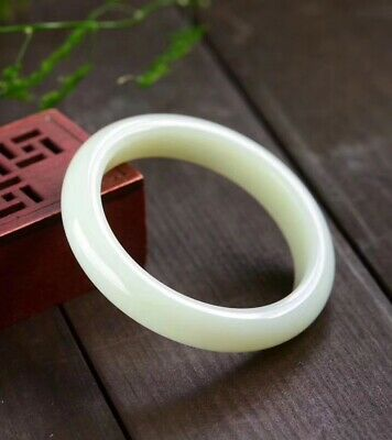 Chinese Nephrite HeTian White Jade Bracelet Bangle Top Quality Good Condition