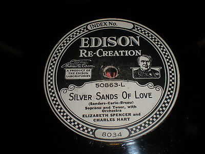 Silver Sands Of Love/With All Her Faults I Love Her Still-#50863 Edison Disc  E+