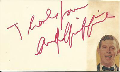 Andy Griffith Psa Dna Extremely Rare Signed Card