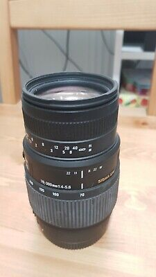Sigma DG 70-300mm F/4.0-5.6 Macro Lens, clean and fungus free, canon fit