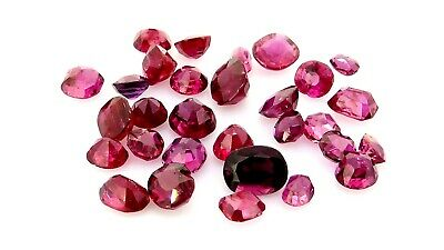 Mixed Antique untreated Rubies 7.33ct natural loose gemstones.
