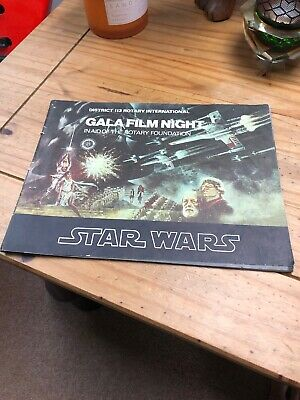 Star Wars Gala Film Night Booklet - Rare - Rotary Foundation - 1977
