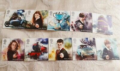 G.B Royal Mail Mint Stamps Harry Potter 2019 A1, 10 1st class stamps in sleeve