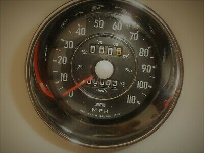4in Smiths 110mph mechanical speedometer 0 Miles SN5337/10B 1000 for classic car