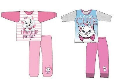 Girls Baby Toddler Disney Marie Cat Aristocats Long Sleeve Pyjamas pjs 12m-10yrs