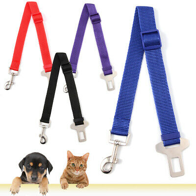 Pet Car Safety Seat Belt Harness Restraint Lead Leash Vehicle Travel Dog 3 Color