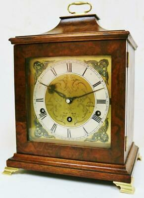 Antique Westminster Chime Musical Bracket Clock Walnut 8 Day Mantel Clock Repair