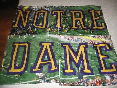 Set Of Four Notre Dame Throw Pillow Shams With Action Figures