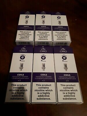 6 Packs (30 in total)  of Cirro Coils x 5    0.2 ohm