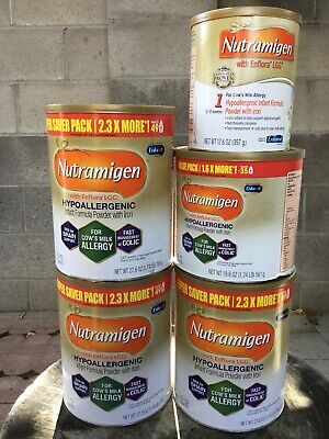 Lot Of Five Nutramigen With Enflora LGG Hypoallergenic Infant Formula Powder