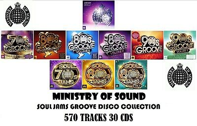MOS 570 tracks 30 CDs THE Ministry of Sound Disco Soul Jams Groove complete Set