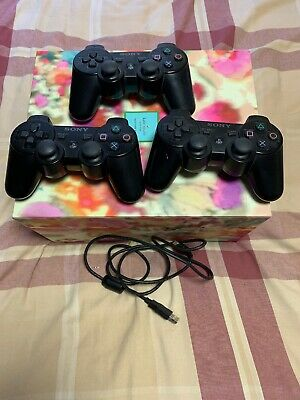 Official OEM Sony PlayStation 3 PS3 Controller lot of 3 Excellent Condition