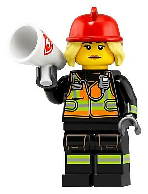 fire fighter avec sachet lego Mini figurine serie 19 71025