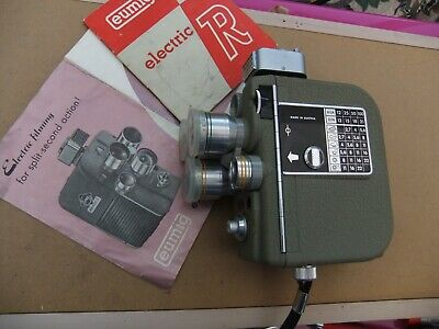 VINTAGE  EUMIG ELECTRIC R - 8 mm CINE FILM CAMERA AND BAG