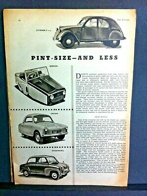 MICRO-CARS, BUBBLE CARS, 3-WHEELERS, SCOOTERS -1957 - The AUTOCAR+Adverts+Tests