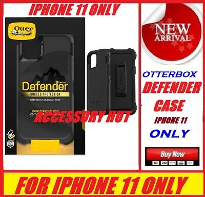 Otterbox Defender Series Case for Apple iphone 11 ONLY BLACK 77-62457