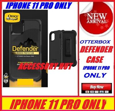 NEW Otterbox Defender Series Case for Apple iphone 11 PRO ONLY BLACK 77-62519