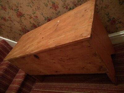 Antique Old Pine Chest Wooden Box