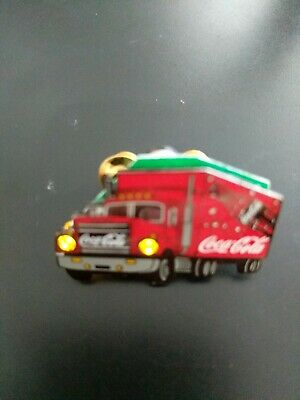 Vintage Rare Truck Coca-Cola Advertising With Flashing Light Collectable  Pin.