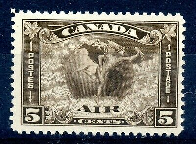 Weeda Canada C2 F/VF mint LH 5c olive brown 1930 Airmail issue CV $55