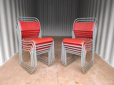 Vintage PEL Vinyl Stacking School Chairs - Cafe Bar Restaurant - 25 Available